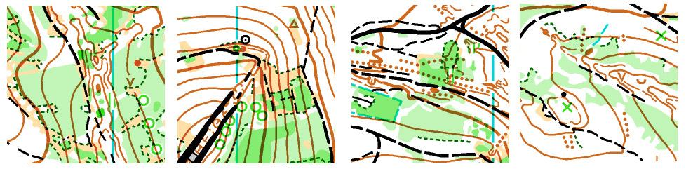 ukázky mapy pro štafety (autor: Ivo Habán)